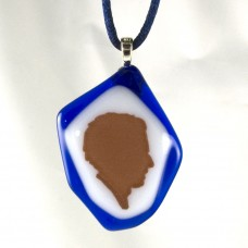 12th Fused Glass Pendant #1114-1201