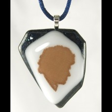6th Fused Glass Pendant #1114-601