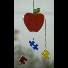 Autism Teacher Stained Glass Sun Catcher