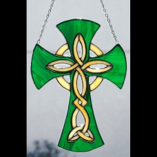 Celtic Cross Stained Glass Sun Catcher