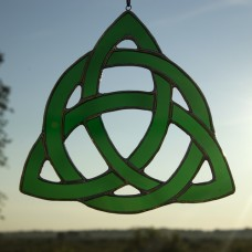 Celtic Knot Stained Glass Sun Catcher