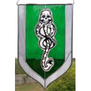 Morsmordre Stained Glass Panel
