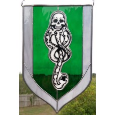 """Morsmordre"" Stained Glass Panel"