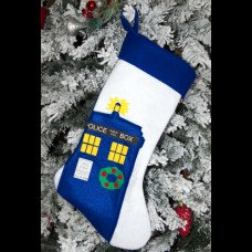 "Parody ""Go Home TARDIS, You're Drunk"" Christmas Stocking"