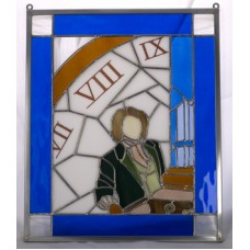 """Eight"" Stained Glass Panel"