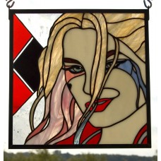 """Harley"" Stained Glass Panel"