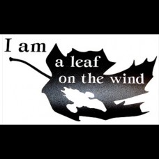 Leaf on the Wind Vinyl Decal