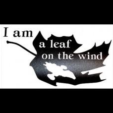Leaf on the Wind Vinyl Decal