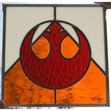 """Rebel"" Stained Glass Panel"
