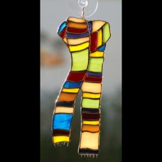 Scarf Stained Glass Sun Catcher