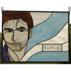 David Tennant ORIGINAL AUTOGRAPH Stained Glass Panel