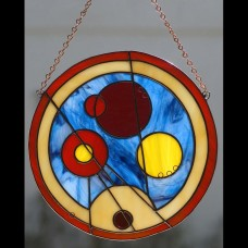 Circular Gallifreyan Stained Glass Welcome Sign