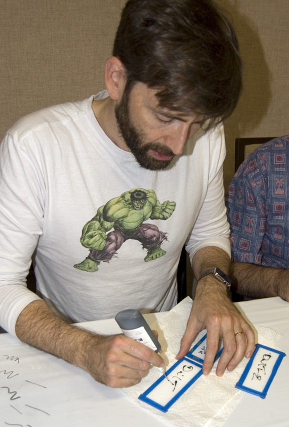 David Tennant signing glass